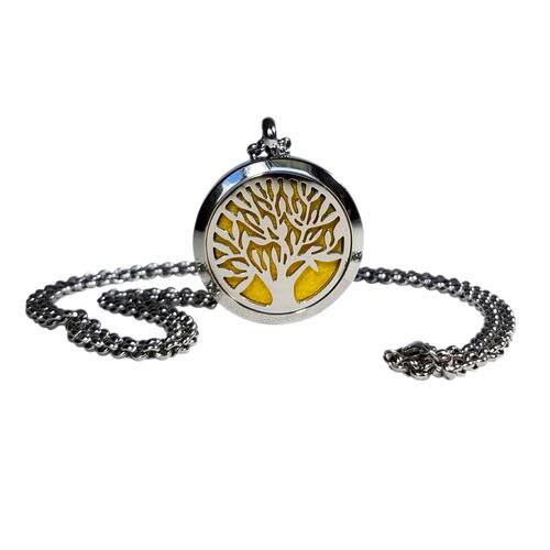 Aromatherapy Locket – Tree of Life – Stainless St eel ·